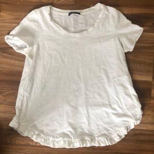 Shein White Shirt w Ruffle Detail